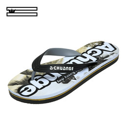 crust shoes Promo Codes - SHUANGGUN New Men Slippers Summer Thick Crust Men Sandals Non Slip Beach Shoes Male Tide Dragged Word Slippers Size 39~45