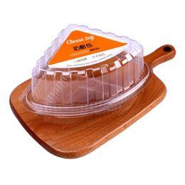 Contentores de transporte descartáveis on-line-Descartável Transparente De Plástico Para Viagem Recipientes De Alimentos para Sobremesas Frutas Legumes Pão De Sanduíche Atacado Frete Grátis QW9083