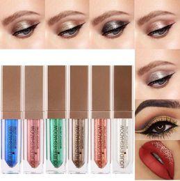 Sombras brillantes maquillaje de ojos online-Hot Liquid Eyeshadow Makeup Sombra de ojos Halloween Limited Shimmer Metallic Edition Pearl Light Shiny Maquiagem Cosmetics