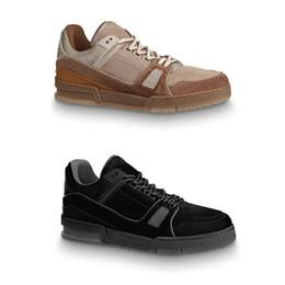 Nuevas suelas de baloncesto online-zapatos escotados ocasionales de suela de goma nueva zapatilla de deporte de cuero de gamuza Diseñador instructor para hombre de la vendimia de baloncesto zapatillas de deporte US9-11