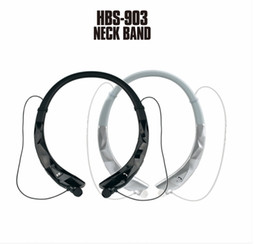 Motorola neckband bluetooth headset online-HBS 903 New Neckband Stereo Bluetooth Headset Wireless Mobile Musik V4.1 Luxus Sport-Kopfhörer-Telefon-Kopfhörer freihändiger HD MIC-Hörmuschel