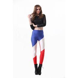 9ae60df300b7a Lady Leggings French National Flag 3D Digital Full Print Runner Yoga Wear Pants  Girls Casual Pencil Fit Woman Sportwear Jeggings (YLgs3222)