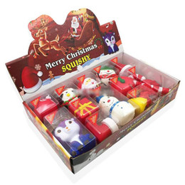 Telefone stress on-line-Squishy Natal estilo qualidade Jumbo Box lenta subida suave brinquedos Oversize Squeeze Telefone Pendant anti-stress Kid Toy Descompressão dos desenhos animados