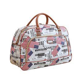 Jellyfish Sea Animal Red Travel Lightweight Waterproof Foldable Storage Carry Luggage Large Capacity Portable Luggage Bag Duffel Bag