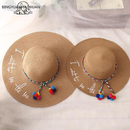6769acbbfe8 BINGYUANHAOXUAN 2018 New Style Adult Women Girls Fashion Embroidery Sun Hat  UV Protect Big Bow Summer Beach Straw Hat D19011103