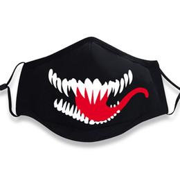 Film Venom Cosplay Masque Mouth Muffle Langue Rouge Edward Eddie Brock Drôle Coton Noir Sports Chaud Antipoussière Anti-poussière ? partir de fabricateur