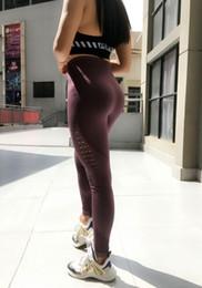 2019 camicia di compressione Push Up Women Pencil Traspirante Vita alta Allenamento sportivo Leggings di fitness slim in esecuzione pantaloni elastici