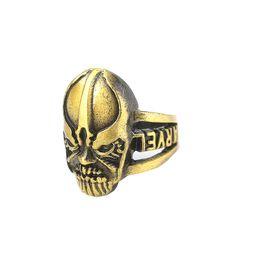 kristall infinity ringe Rabatt Marvel Avengers Unendlichkeit Krieg Thanos Infinity Gauntlet Power Ring 2 Farben Gold Bronze Kristall Edelstein Ringe für Männer Cosplay Schmuck