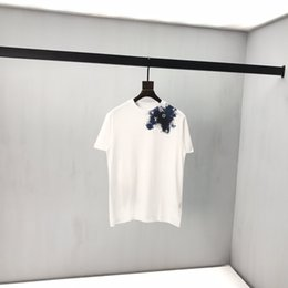 chemises sport de style militaire Promotion lettre d'encre Splash impression de haute qualité T-shirt blanc 2020 printemps dernier style français et sauvages été des hommes et des femmes de Paris chemise confortable