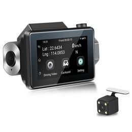 Wholesale 3 IPS touch screen Dash Cam HD P macchina fotografica dell automobile DVR Dual Lens G Hidden Wifi