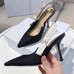 zapatos de boda de playa negro pisos Rebajas Moda sexy Sandalias de tacón alto Sandalias de cuero de gladiador Diseñador de lujo Tacón fino Zapatos de tacón alto 10cm Zapatos de mujer de gran tamaño 42