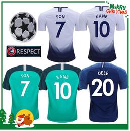 2df3d492431 Champions League 18 19 Tottenhamirs KANE Soccer Jersey 2018 2019 LAMELA  ERIKSEN DELE SON home Away 3rd blue Football jerseys shirt