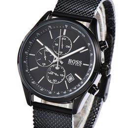 Luxury Boss Business Мужские часы Высококачественные кварцевые наручные часы из нержавеющей стали для мужчин от