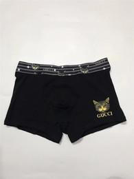 Meninos pugilistas brancos on-line-Mens Underwear Masculino Homens Boxers Shorts Meninos Underwears Para Homens Briefs Cor Preto Marinha Branco Cinza Cinza Vermelho Tamanho M L XL XXL