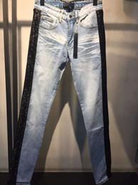 Nuovo colore dei jeans di stile online-2018SS nuovi jeans moda uomo stile francese di alta qualità blu colore skinny jeans strappati strappati top strada Arrrival Biker jeans denim bici