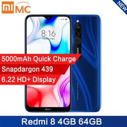 smartphone dhl schifffahrt android Rabatt [Presale] Global Version Xiaomi Redmi 8 4GB 64GB Snapdragon 439 Octa-Core 12MP AI Kamera-Handy 5000mAh Quick Charge CE-Mobiltelefon
