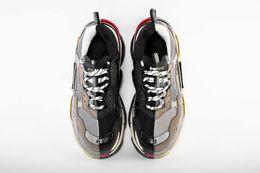 Yin schuhe online-(+ Tasche) Verkauf Neue 2019 Yin Und Yang Retro Paris Triple-S Sneakers Männer Frauen Laufschuhe Casual Papa Schuhe Tennis Sportschuhe