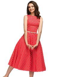 vestiti semplici da un pezzo Sconti 2019 Abito estivo femminile Dolce casual Abito femminile monopezzo Moda semplice Dot