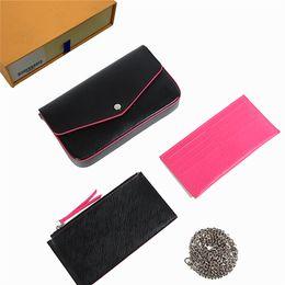 2019 carregue a carteira Designer bolsas Designer Clutch Carteiras bolsas bolsas das mulheres carteiras bolsa de couro designer de bolsa de ombro titular do cartão bolsa com caixa 610104