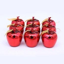 2019 рождественская елка красный apple украшения 12шт красные золотые яблоки елочные украшения вечеринка фрукты фруктовый кулон рождественский орнамент скидка рождественская елка красный apple украшения