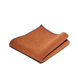 Cotone e lino fazzoletto ispessimento assorbimento di acqua fazzoletto uomo donna panno del tè secco veloce marrone semplice 1 5yz d1 da