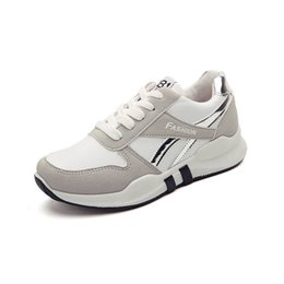 Плоские резиновые туфли для женщин онлайн-Spring Autumn Women Casual Shoes Leisure Women's Casual Sneakers White Female Breathable Rubber Flat Shoes