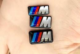 Logotipo de deportes 3d etiqueta online-Nuevo vehículo Vehículo Insignia de la rueda M Deporte 3D Etiqueta engomada del emblema Calcomanías Logo para bmw M Serie M1 M3 M5 M6 X1 X3 X5 X6 E34 E36 E6 Pegatinas de diseño de coches