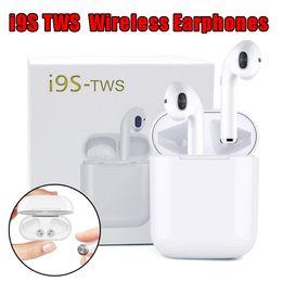 телефоны i9 Скидка I9 I9S TWS Беспроводные Наушники 5.0 Портативная Bluetooth-гарнитура Невидимый Наушник для IPhone X XS 8 7 Plus Для Мобильных Телефонов Android Xiaomi