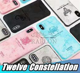 Constelações on-line-2019 novo doze constelações tpu case para iphone xs max xr x 8 7 s9 s10 s10 além de huawei p30 pro horóscopo designer phone case