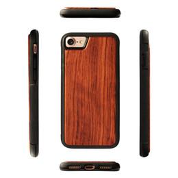 handy-slip-fall Rabatt Luxus retro holz + weiche gummi telefon case für iphone 7 8 6 s plus xs max xr antiklopf mobile abdeckung echte holz bambus handy case