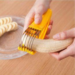 grano di plastica Sconti Affettatrice della banana dell'acciaio inossidabile affettatrice della salsiccia della verdura della frutta dell'affettatrice che cucina gli accessori gadget trasporto libero all'ingrosso