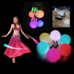 светодиодные шарики Скидка 77 мм*77 мм светодиодов ручной реквизит женщин рождественскую вечеринку из светодиодов POI мячи аксессуары ручной танец живота реквизит цвет Аото
