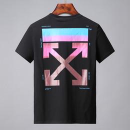 Ropa caliente online-19ss Hot T-shirt Fashion off Men alta calidad 100% algodón estilo del verano de manga corta camisetas Marcas blancas Ropa de hombre Carta Imprimir Tee bs