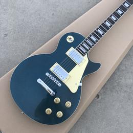 Canada Guitares électriques standard de couleur de scintillement vert de vente chaude, corps solide de Manogany, expédition sans matériel d'argent Offre