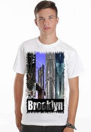 b5e44c15f brooklyn bridge 1 nyc sexy pin up model full color mens t shirt dtg screen  print