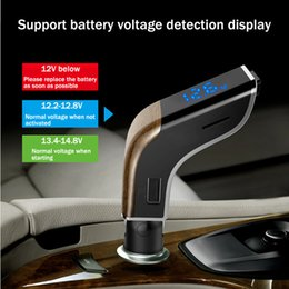 2019 trattore digitale universale per auto 2019 kit multifunzione Bluetooth per auto vivavoce senza fili Trasmettitore FM Musica Lettori MP3 USB per Mp3 Trasmettitore Adattatore Flm