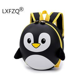 2019 sacchetti di pinguino del fumetto Nuove borse 3d Cartoon Hard Shell Bambini Ragazze Penguin School Backpack per Boy Mochila Infantil Q190530 sacchetti di pinguino del fumetto economici