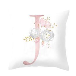 45x45cm детская комната украшения письмо подушка английский алфавит полиэстер чехлы для дивана украшения дома цветок наволочка наволочка от