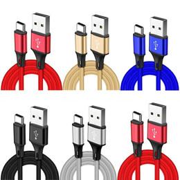 Fil pour maison en Ligne-alliage tressé câble Type c Micro V8 1m 2m 3m câble usb câble maison métallique câbles pour samsung s7 s8 s9 s10 note 8 9 htc sony mobile