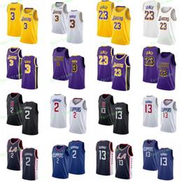 NCAA LeBron 23 James Jerseys Kawhi 2 Leonard Paul 13 George Anthony 3 Davis cosido Jersey de baloncesto de la Universidad Azul Blanco Negro Azul marino Ciudad desde fabricantes