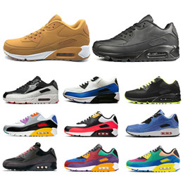 Logos de chaussures de sport en Ligne-Nike Air Max 90 Airmax the details page for more logo Designer VM Trainer Chaussures de course Hommes Femmes Triple s Noir Blanc Crimson Pulse Rouge Orbit Bleu Olympic Gris Sport Sneaker
