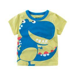 Baby Jungen Mädchen T-Shirts Dinosaurier Roar T-Shirt 100% Baumwolle weiche Oberteile Kinder Kinder Outwear Kleidung T-Shirt Kurzarm Sommer Outfit 2-10T von Fabrikanten