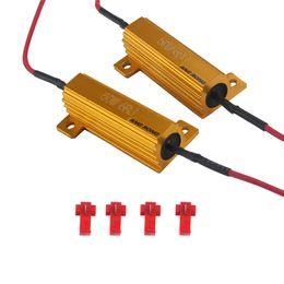 Carico di resistenza online-2x Indicatore di direzione del segnale Fog Light Car Canbus Error Free 50W 6 OHM Load Resistor