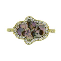 Fascini a forma di mano online-Charms di pietra naturale del pendente di fascini di pietra del connettore di figura della mano 5Pcs per gli accessori dei monili della collana Trasporto libero