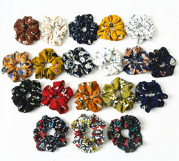 2019 feind freies verschiffen (10/12 Stücke / Los) neue große Scrunchie Blumen-elastische Haar-Band-Frauen Kopfbedeckung Haarschmuck