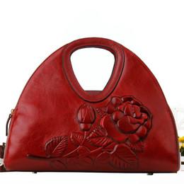 Sac à bandoulière en cuir véritable pour femme 2019 nouveau style vent chinois grand paquet tempérament ? partir de fabricateur