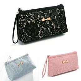 сумки для организаторов путешествий Скидка Women Ladies Portable Travel Bag Purse Handbag Make Up Cosmetic Wash Accessories Case Bag Zipper Liner Organiser