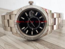 2019 legno di spilla all'ingrosso 3 Tipo di Sellin lusso di affari del Mens orologio di qualità pieghevole 42 millimetri meccanica Sky-Dweller 326.934 316L acciaio Asia 2813 Movimento