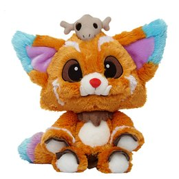 lion toy dolls Coupons - 32CM Game League LOL Gnar Plush Toys Doll Official Edition 1:1 Gnar Plush Soft Stuffed Toys for Children Kids Christmas GiftsMX190926