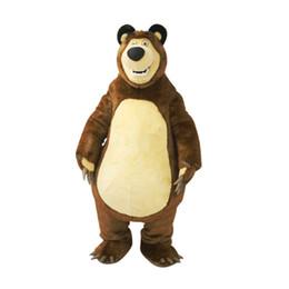 Costumes de personnages de bande dessinée de qualité en Ligne-De haute qualité Big Bear Costume De Mascotte Ursa Grizzly Cartoon Character Livraison Gratuite